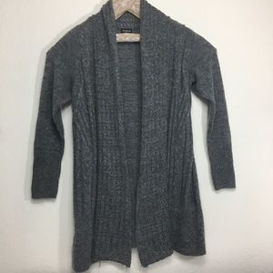 Torrid open knit cardigan, grey, Sz M/L